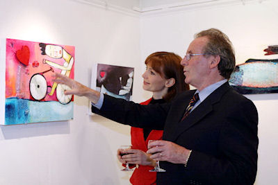 Hélène Duquin, Director of Alliance Francaise and Kevin Sanquest, artist and marketing director Progressive News and Media