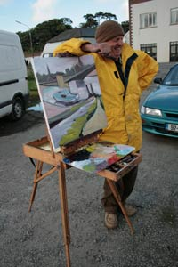 John Cullinane enjoying a break at Art in the Open 2008