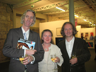 Tony Strickland, Carmel McCormack and David Hughes at the Dublin Art Fair.