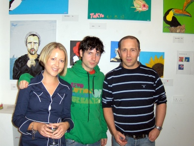 Anne, Gavin (artist) and Killian at the exhibition opening.