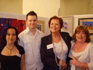 Sandra Schoene, Carl Laffan, Paula Bradley, Martina Hurley at the opening