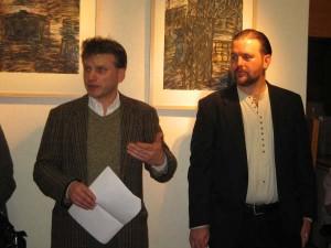 Eamon Lenihan with Visual Artist Thomas Delohery (Photo by Rebecca Delohery)