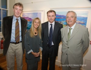 Dr Derek O'Connell, Sioban Murphy, Dr Carl Vaughan and Dr Michael Whelton at the exhibition opening.