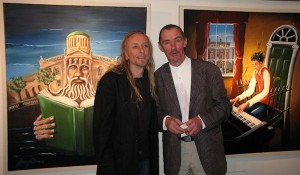 Guggi and Jimmy Burns at the exhibition opening.