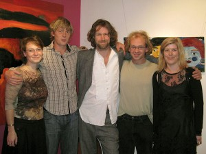 Mufleta Peters, Mark Redden, Liam O'Maoinlai, Tom Campbell & Aislinn Bradley at the exhibition opening