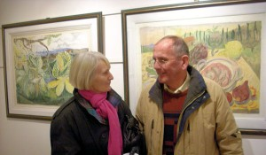 Angela and Jim O'Connor at the exhibition opening