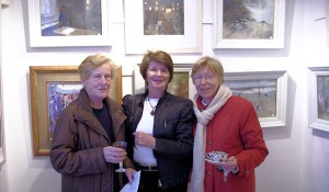 Kitty Galvin, Helen Shanahan and Marie Doyle at the exhibition opening