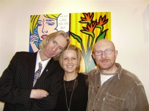 Tony Strickland, Louise Cody (Owner of Gallery 53), John Nolan