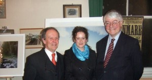 Micheal Walsh (chairman of The Irish Railway Record Society), Lorraine Tuck and Minister Martin Mansergh (OPW). Photo by Noel Bowler.