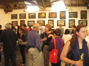 Crowd at the official opening, Kidogo Art Gallery