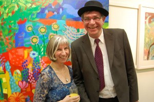 Artist Marja van Kampen with guest speaker Bernard Jennings