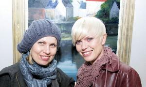 Sawosko Kashe & Sawosko Agriescke at the exhibition opening