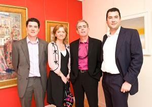 Ken Buckley, Paula Linehan, Neil Prendeville and Mark Buckley at the Buckley Gallery Launch