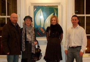 Artist John Nolan, Philomena Lynott, Gallery Owner Louise Cody and exhibition artist Damien Cody at the exhibition opening.