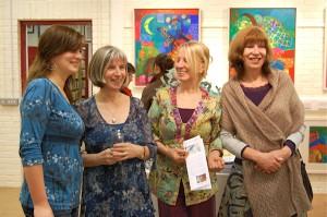 Laura, artist Marja, Jacqueline, Berry van Kampen