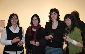 Bernadette Quinn, Gillian Kane, Ann Quinn (artist) and Gillian Lawler at the exhibition opening