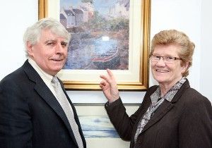 Exhibiting artists Pat McGloughlin (right), honorary secretary of the Dublin Painting &amp; Sketching Club, and Tom Scott, the Cubs honorary treasurer