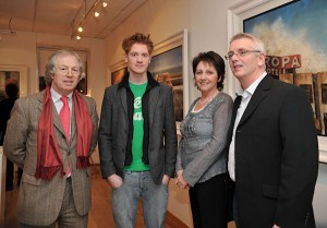 Broadcaster & Art Collector Eamonn Mallie,Belfast artist Francis McCrory, Alice McCrory, Frank McCrory