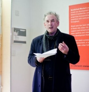 Michael O'Loughlin opens exhibition (photo by Alan Higgins)