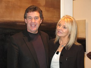Bill Cullen and Jackie Lavin at the exhibition opening
