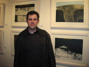 Stephen Vaughan at the exhibition opening