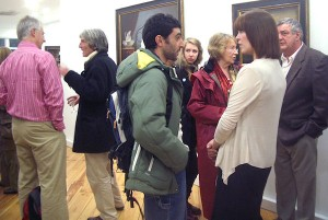 At the exhibition opening.