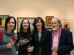 Olive Stack, Ella Kavanagh, Mary Cassidy, Eoin De Leastar at the exhibition opening