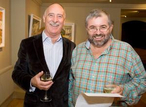 Aidan Fox and Bill Hughes at the launch.