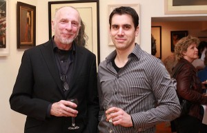 Artists Jim Fitzpatrick and Douglas Ferris at the exhibition opening (photo © Conor Healy Photography - www.CHphotography.ie)