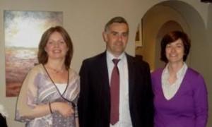 Ann Brennan, Artist, Cllr. Seamus Hanafin and Lorainne O'Keefe at the exhibition opening.