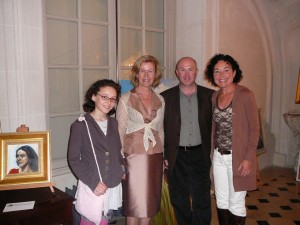 Natalie Martin, Anna Anderson (the Irish Ambassador to France), Artist Tom J. Byrne and Bernadette Martin.