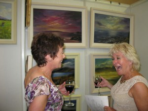 Artists Brenda O'Connor and Donna McGee at the exhibition opening