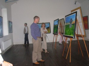 At the exhibition launch
