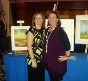 Artists Ann Brennan and Judy Shinnick