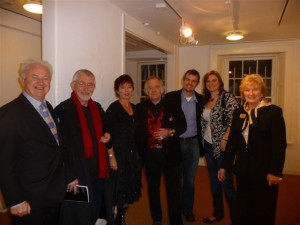 Patrick Murphy, Brian McAvera (who opened the show),  Jude Stephens,  Artist Graham Gingles,  Neil Gingles,  Clare Gingles and  Antoinette Murphy at the exhibition opening