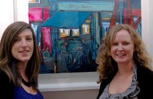 Carol Tormey and Kerrie O' Reilly at the exhibition opening