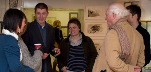 Ethel McVeigh and Gareth Curtis of The Morpheus GAllery with Julia Richter, Mike Absalom and Tommie Soro