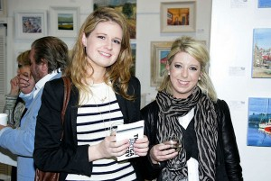 Rachel O'Malley & Caitriona Lawlor at the opening