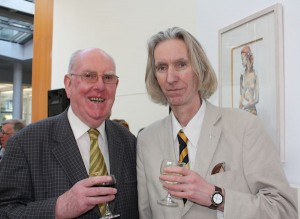 Aidan Doyle and art curator Tony Strickland at the exhibition launch (photo Liam Madden)