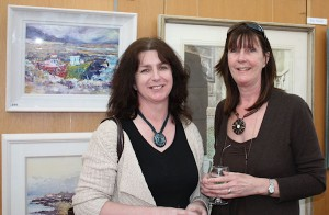 Ann Campbell and Linda Doyle at the exhibition launch (photo Liam Madden)