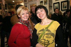 Ilona Lubojemska & Ewa Rejman at the exhibition opening.