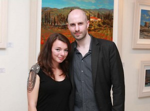 Niamh Parkinson and Vincent Keeling at the exhibition launch (Photo: Conor Healy Photography)