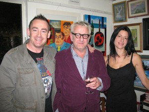 Dave O'Shea, Graham Knuttel and Hazel Revington Cross at the exhibition opening