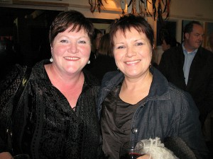 Majella Murphy and Mary McEvoy at the exhibition opening.