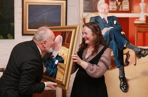 Senator David Norris and artist Louise McKeon at the exhibition opening. (Photo: Conor Healy Photography)
