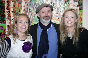 Deborah Donnelly, Tommy Tiernan & Denise Donnelly at The Bad Art Gallery