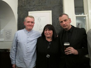 Brian Gallagher, Angel Loughrey and James Hanley at the exhibition opening