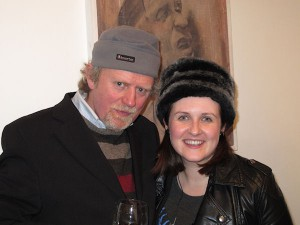 Poet Kevin Kiely and Orla Lehane at the exhibition opening.