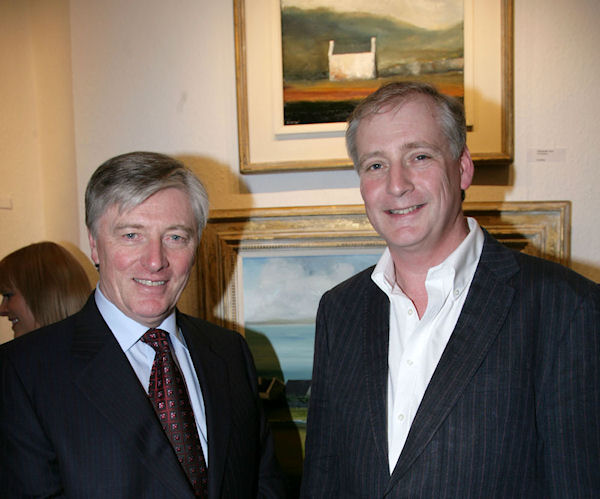 Pat Kenny & artist Padraig McCaul at the gallery opening (photo Fusion Photography)