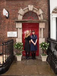 Denise Donnelly and Deirdre Carroll outside the Doorway Gallery